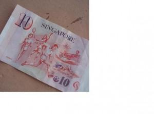 Ilustrasi sport di mata uang Singapura