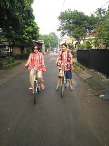 gowes cantik di Borobudur
