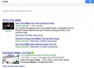 Kata Maut di mesin pencarian