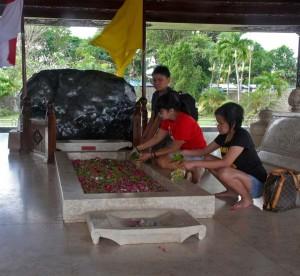 ziarah di makam Bung Karno di Blitar sembari menanti pengumuman  KPU